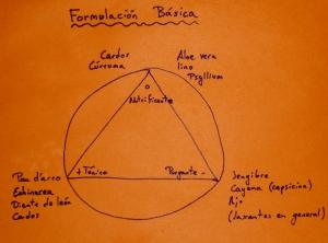Diagrama de formulación de remedios herbales