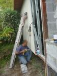 fijando los paneles exteriores