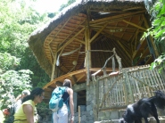 the entrance to the Yoga Forest shala