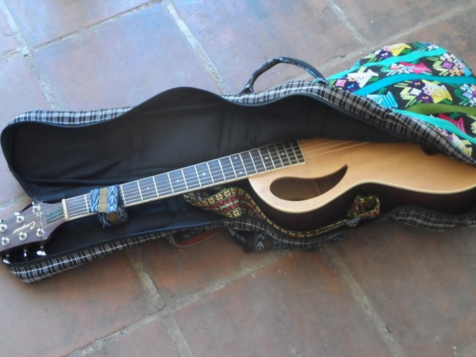 gig bag with guitar